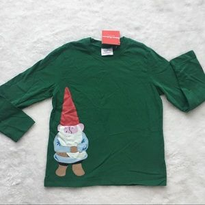 Hanna Andersson Christmas gnome shirt top 6-7 yo